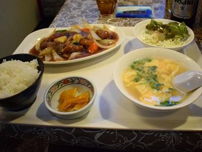 二日市温泉の福龍の酢ぶた定食2