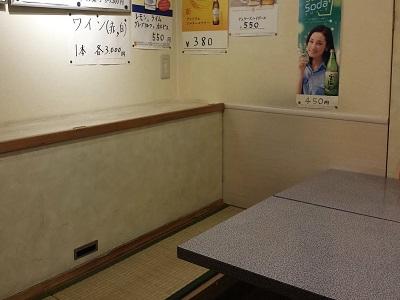 長浜屋台やまちゃん中洲店のテーブル席