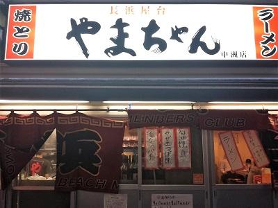 長浜屋台やまちゃん中洲店の看板