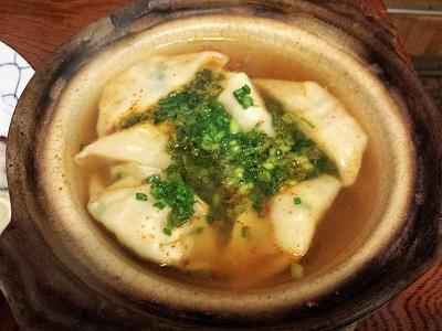 串かつ和さんの激辛スープ餃子