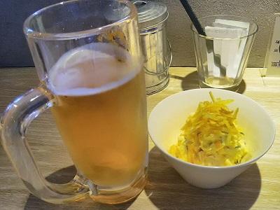 無量庵Diningの生ビールが美味しい