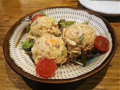 木鶏の馬コンビーフのポテトサラダ