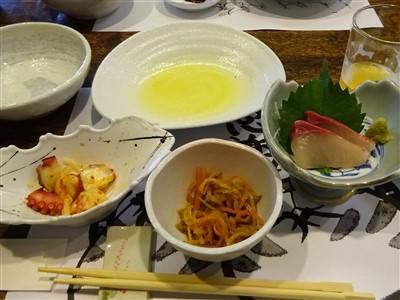 吉丁の豆乳鍋コースの小鉢