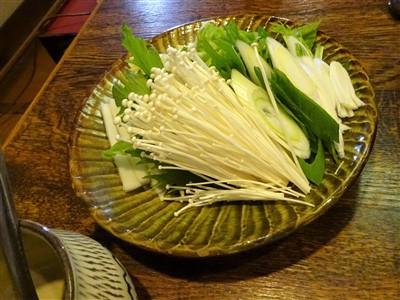 吉丁の豆乳鍋コースの鍋野菜