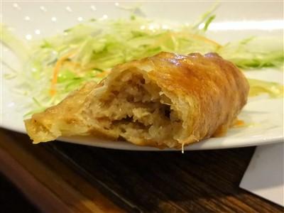 吉丁の豆乳鍋コースの揚げ餃子の中身