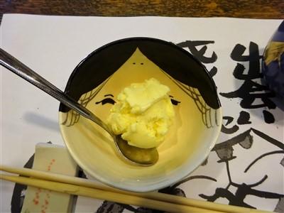 吉丁の豆乳鍋コースのバニラアイス