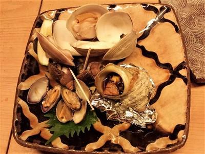 炉端百式の貝焼きセット