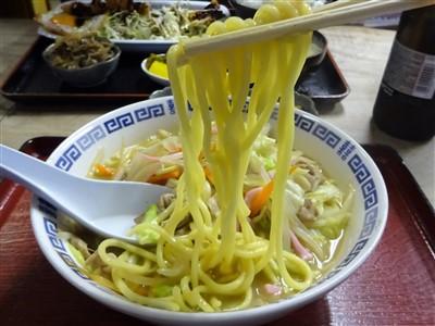 天六食堂のちゃんぽんの麺