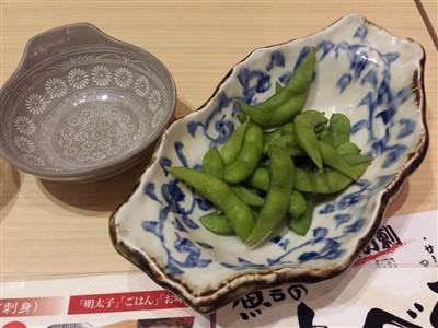 魚吉のせんべろセットの枝豆