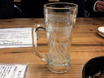 すじ一の生ビールのエンジェルリング