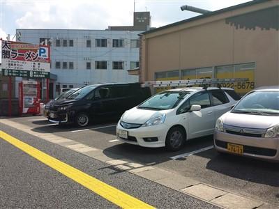 ちくしの太閤ラーメンの駐車場1