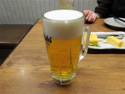 竹乃屋の生ビール