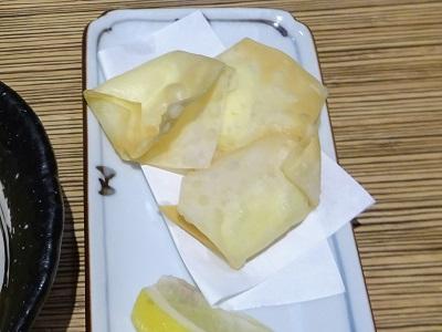 大福うどんのチーズの包み揚げ
