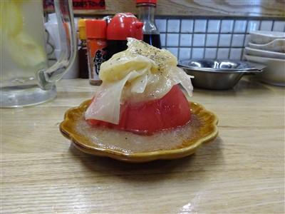 酒処あかりのガリ塩トマト2