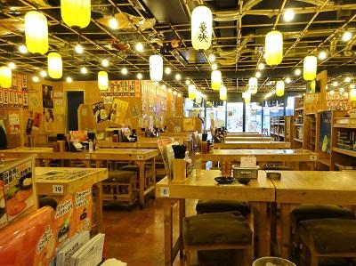 大阪満マル西鉄二日市前店の平日昼の店内