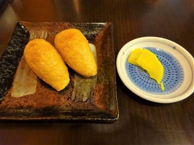 うどん処もりののいなり寿司1